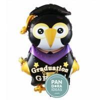 Graduation Grad Black Owl Balloon | Balon Foil Wisuda