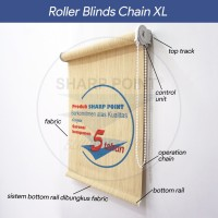 [PROMO] Roller Blind Sharp Point Black Out Super Quality Chain XL