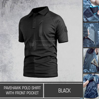 Pavehawk Polo Shirt With Front Pocket Black