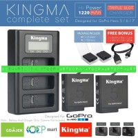 Baterai battery Gopro hero 8 Hero 7 Hero 6 Black + Dual Charger Kingma