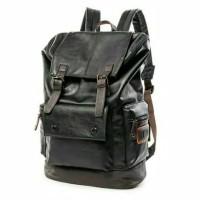 Tas Ransel Pria Wanita BUZOKU - Backpack Kulit Import - Tas Laptop