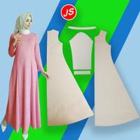 Pola Instan Gamis Terusan Abaya Wanita Dewasa ( IS 003 )