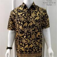 Kemeja Batik Pria Lengan Pendek Murah Baju Batik Cowok Motif