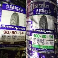 Ban Motor Mizzle 90/90-14 & 100/80-14 Paket Tubeless Street Viper