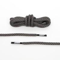 125CM GREY-BLACK NON REFLECTIVE ROPE LACES TALI SEPATU
