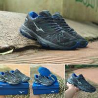 Sepatu Volly Mizuno Propechy Grey Blue Premium High Quality