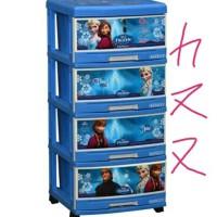 PROMO KHUSUS GOSEND Napolly Frozen lemari laci plastik susun 4