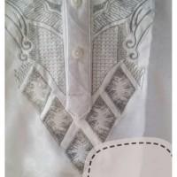 Murah Baju Koko Anak Balita Lengan Pendek Bordir Putih (1- 7 tahun)