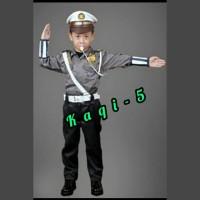 kostum karakter karnaval profesi polisi cilik baju pocil anak