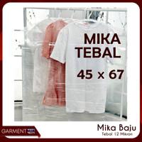 Mika Baju Dewasa 45x67 Cover Plastik Pelindung Pakaian PLASTIK TEBAL