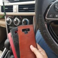 Elegan Leather Back Case Samsung Note 9 - Bahan Kulit Design Simple