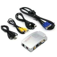CONVERTER VGA TO RCA / VGA TO TV / VGA TO S-VIDEO / CON Berkualitas