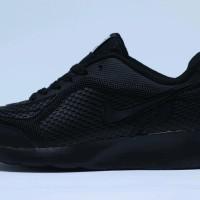 Ready Size 36-43 Sepatu Sekolah Nike Airmax Hitam Polos