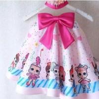 Gaun Pesta Anak Perempuan / Dress Anak LOL Surprise / Baju Ultah (A77)