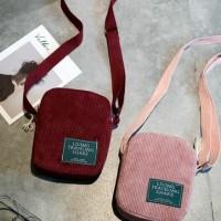 Sling bag Wanita korea Tas selempang Mini slingbag Hp Corduroy
