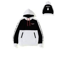 Bape x F1 1000 Two Tone Pullover Hoodie Black White