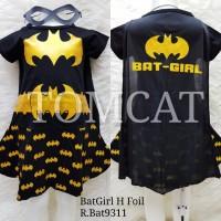 Dress Kostum Anak Cewek Bat Girl Gold Baju Superhero