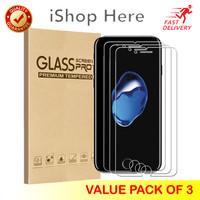 3 Buah Premium Tempered Glass / Anti Gores Bening iPhone 6 6S 7 8 Plus