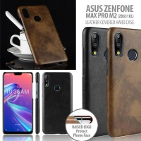 Asus Zenfone Max Pro M2 ZB631KL - Leather Covered Hard Case