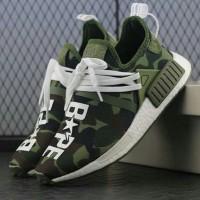 Adidas NMD HU Race Camo X Bape Sepatu Sneakers Jalan Pria PREMIUM