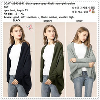 Baju Cardigan Rajut Knit Batwing Wanita Korea Import AB436842 Tunik