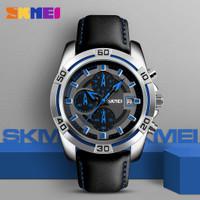Jam Tangan Pria / SKMEI 9156 / SKMEI / Original / Casual Watch Leather