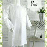1-3SD Baju Kurung Padang Muslim Putih Anak SD Kelas 1-3 Bahan Katun El