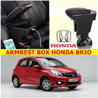 Arm Rest Box Kotak Alas Lengan HONDA BRIO dual stack 7 Port USB Charge