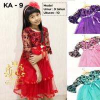 Promo Gaun Rok Baju Pesta Dress Princess Anak Perempuan 2-12 tahun KA9