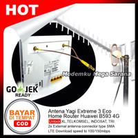 Duet Maut - Antena Yagi Extreme 3 Eco & Home Router Huawei B593 4G LTE