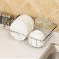 Rak basket tempat piring sink / Keranjang tirisan bak cucian piring