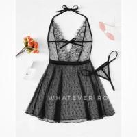 Erica - Sexy Lingerie Lace Dress Sleepwear Babydoll