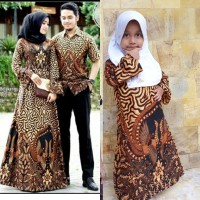 Couple Gamis Batik Jumbo Set Anak Cewek Baju Batik Seragam Keluarga