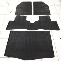Karpet Karet Agya 1 set plus Bagasi - Bezt Karpet Lantai Mobil Hitam