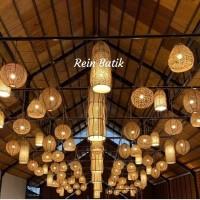 Lampion Bambu/ Lampu etnik/ Lampion Bambu Kombinasi/Lampion gantung