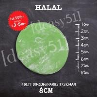 Kulit Dimsum / Gyoza / Swekiaw warna Hijau, diameter 8 cm