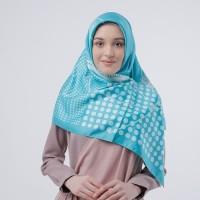 Jilbab Hijab Kerudung Segiempat Satin Motif Zoya Ginny Scarf