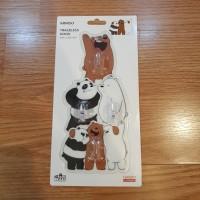 We Bare Bears Traceless Hook Gantungan Baju / Tas Miniso Japan Isi 4