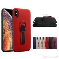 Iphone X / XS Case Stand Ring Holder Magnet Bumper Matte Casing