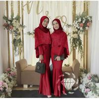 AGS Azka Mermaid Maxi dress syari gamis pakaian muslim wanita