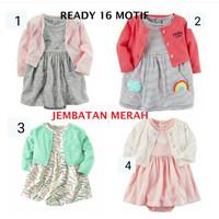 Baju Setelan Dress Atasan bayi anak Carter Carters Dress CARDIGAN
