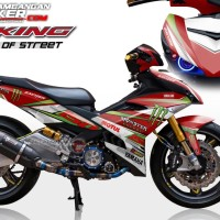 Decal Motor Sticker Motor Yamaha Jupiter Mx King Monster Merah