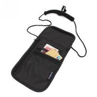 Hot Men Women Travel Passport Neck Bag Phone Wallet Pouch Nylon Anti-T