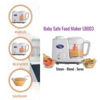 Baby Safe Food Processor LB003 (blender dan steam makanan bayi)