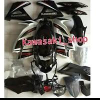 fairing sayap body ninja ninja rr new hitam putih 2015 special edition