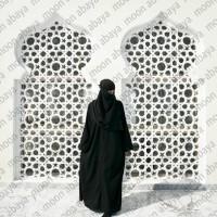 Gamis Abaya Saudi Hitam Polos Fashion Wanita Syari Termurah Bahan