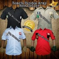 Kemeja Camping Pria Baju Kaos Laki Tactical Lengan Pendek Panjang PDL