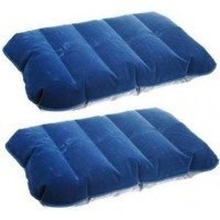 Inflatable PVC Neck Pillow High Rest - H0T019 / Bantal Angin-Dark Blue