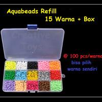 Aquabeads - Aquabead Refill 15 Wrn @100pcs + Box - Mainan anak