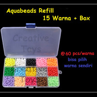 Aquabeads - Aquabead Refill 15 Wrn @60pcs + Box - Mainan anak edukasi